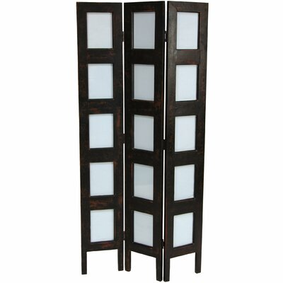 "Oriental Furniture 48.5"" x 21.75"" Frame 3 Panel Room Divider"