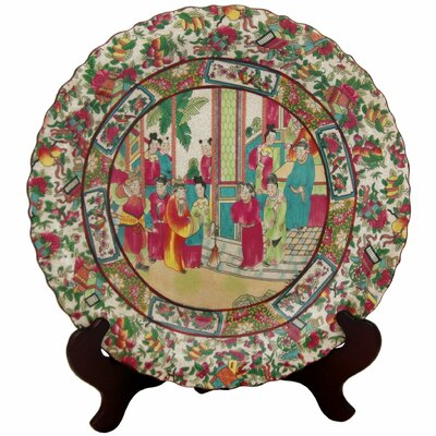 Oriental Furniture Porcelain Plate