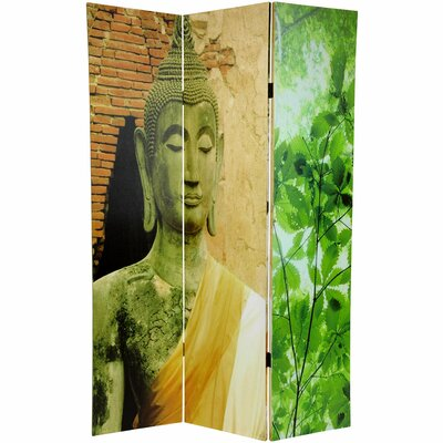 Oriental Furniture Draped Buddha Double Sided Canvas Room Divider