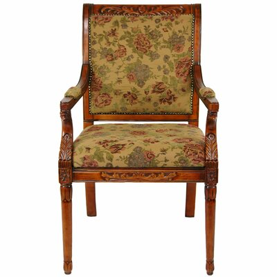 Oriental Furniture Queen Victoria Fabric Arm Chair