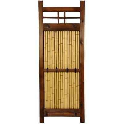 Oriental Furniture Japanese Bamboo 4' x 2' Kumo Fence