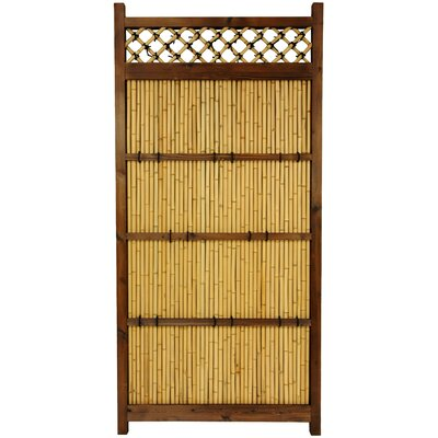 Oriental Furniture Japanese Bamboo 6' x 3' Zen Garden Fence
