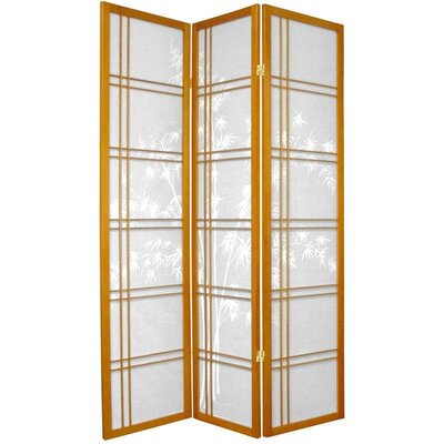 "Oriental Furniture 72"" Double Crossed Bamboo Tree Room Divider"