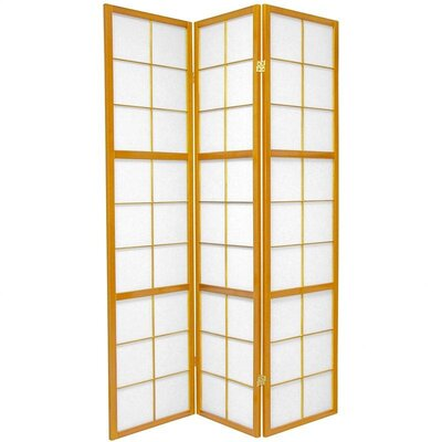 Oriental Furniture Mado Traditional Asian Room Divider in Honey