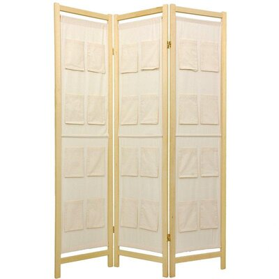 "Oriental Furniture 72"" Pockets on Room Divider"