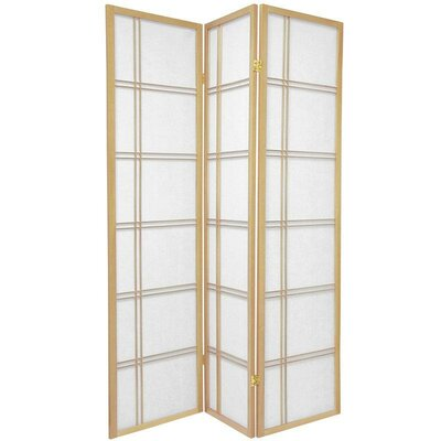 Oriental Furniture Double Sided Double Cross Room Divider in Natural