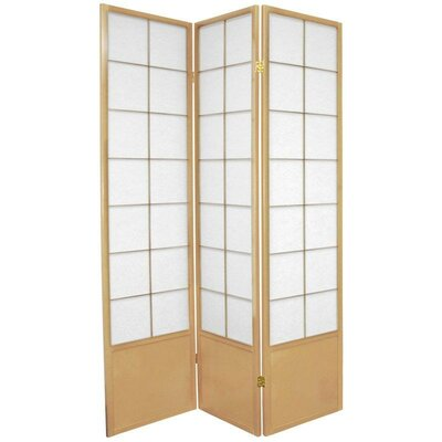 Oriental Furniture Zen Asian Room Divider in Natural