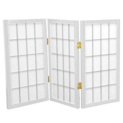 Oriental Furniture 2 Feet Tall Desktop Window Pane Shoji Screen in White