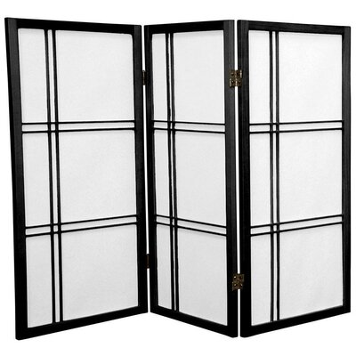 "Oriental Furniture 70"" Double Cross Shoji Screen 3 Panel Room Divider"