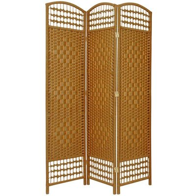 5.5 Feet Tall Fiber Weave Room Divider in Light Beige