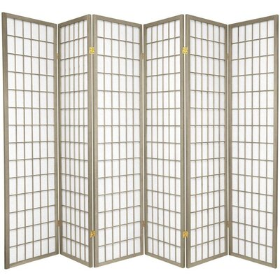 "Oriental Furniture 70"" x 84"" Window Pane 6 Panel Room Divider"