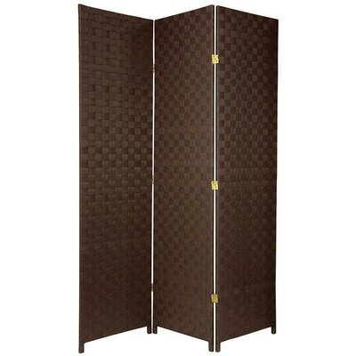 Oriental Furniture Woven Fiber Outdoor All Weather Room Divider in Dark Brown