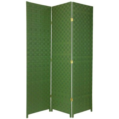 Oriental Furniture Woven Fiber Outdoor All Weather Room Divider in Green