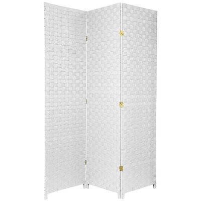 Oriental Furniture Woven Fiber Outdoor All Weather Room Divider in White