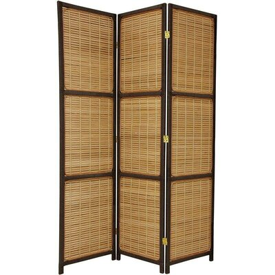 Oriental Furniture Woven Accent Room Divider in Dark Brown