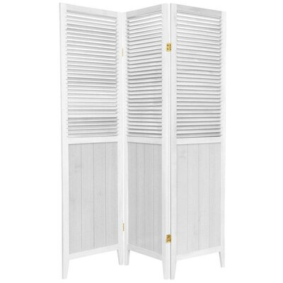 Beadboard 3 Panel Room Divider in White