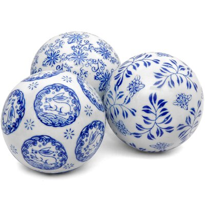 Decorative Porcelain Ball (Set of 3)