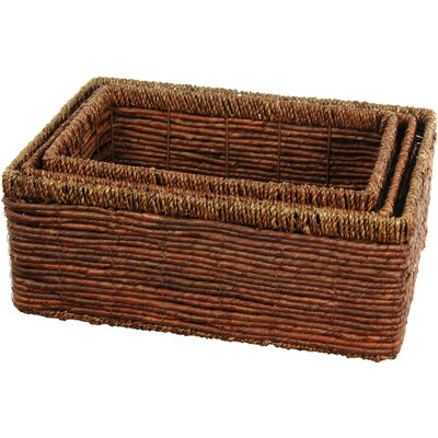 Oriental Furniture Hand Woven Space Saver Basket