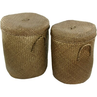 Rush Grass Laundry Hamper (Set of 2)