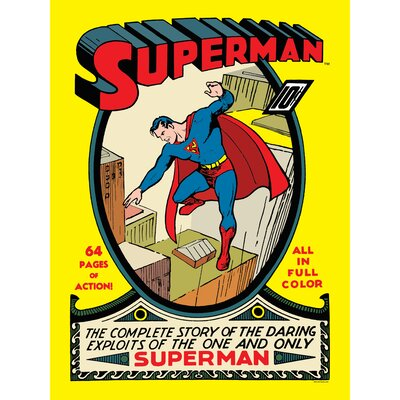 Superman Issue No. 1 Graphic Art on Canvas