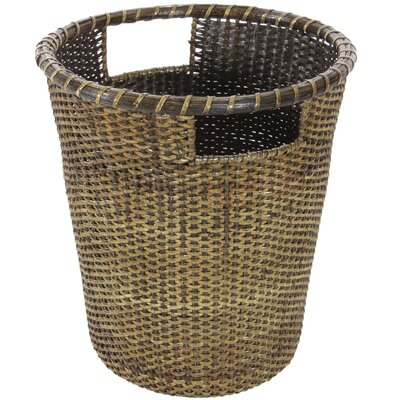 Oriental Furniture Rattan Desk Wastebasket