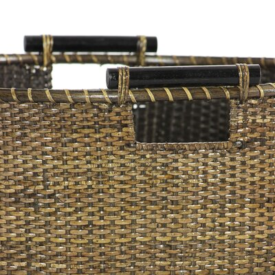 Oriental Furniture Rattan Round Storage Bin