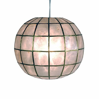 <strong>Oriental Furniture</strong> Princess Capiz 1 Light Hanging Pendant
