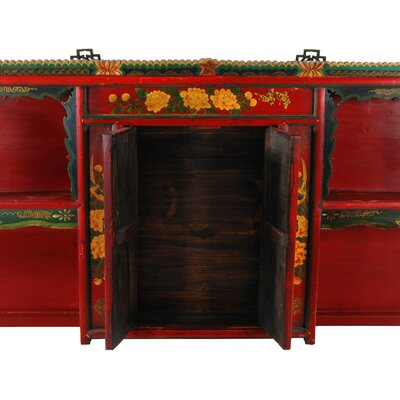 Oriental Furniture Chinese Hand Painted Display Shelf