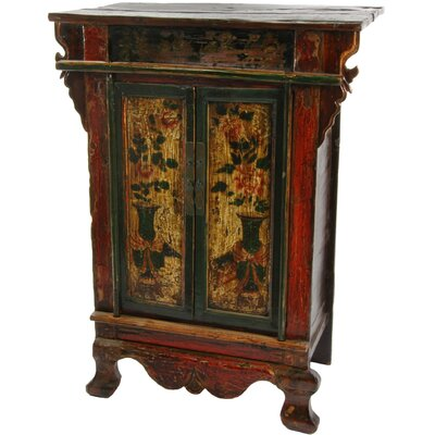 Accent chests and cabinets wayfair buy bombe for Hand painted oriental furniture