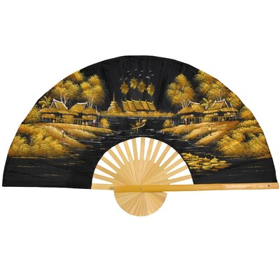 Gilded Morning Wall Fan