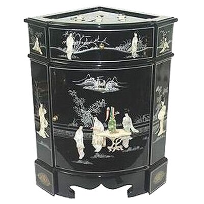 <strong>Oriental Furniture</strong> Chinese 8 Ladies Corner Cabinet