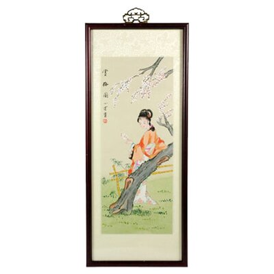 <strong>Oriental Furniture</strong> Ravishing Beauty Asian Watercolor Painting