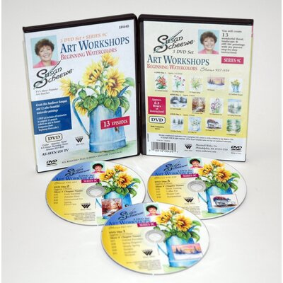 Weber Art SCHEEWE ART WATERCOLOR WORKSHOP 3 DVD SET SERIES 9C--13 EPISODES