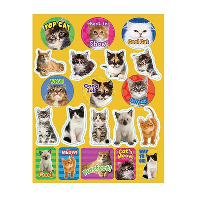 Eureka! Motivational Cats Theme Stickers