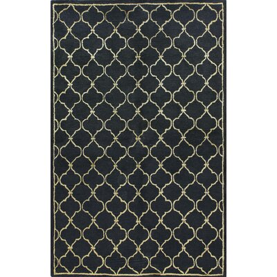 Bashian Rugs Greenwich Lattice Black Rug