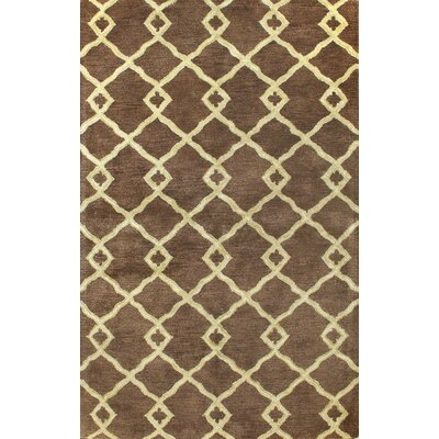Greenwich Modern Lozenge Chocolate Rug