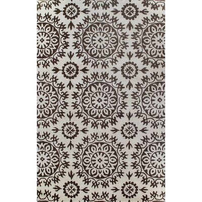 Greenwich Starburst Ivory / Chocolate Rug