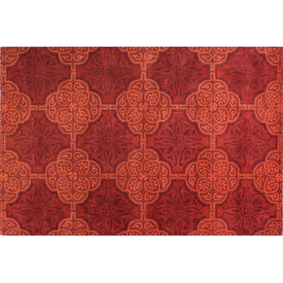 Bashian Rugs Chelsea Red Floral Sun Rug