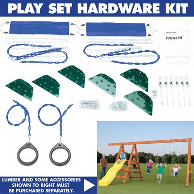 Swing-n-Slide Ready to Build Custom Pioneer DIY Swing Set Hardware Kit - Project 245