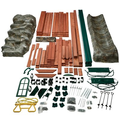 Swing-n-Slide Real Tree Sportsman Wood Complete Play Set