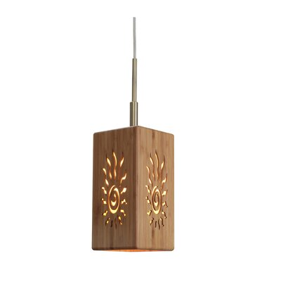 Light House 1 Light Bamboo Mini Pendant