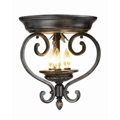 Woodbridge Lighting Rosedale 3 Light Flush Mount