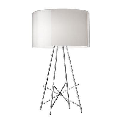 "FLOS Ray 26.5"" H Table Lamp with Drum Shade"