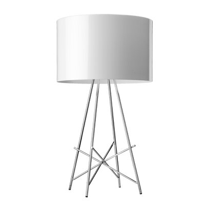 """FLOS Ray 26.5"""" H Table Lamp with Drum Shade"""