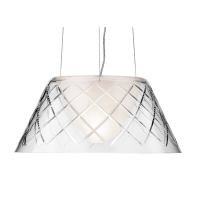 FLOS Romeo Louis II Suspension Lamp in Clear Glass