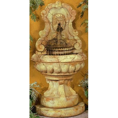 Henri Studio Wall Cast Stone Europe Murabella Green Man Fountain