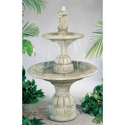 Tiered Cast Stone Small Contemporary Waterfall Fountain