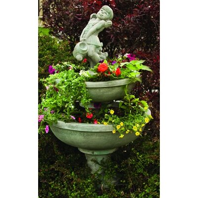 Henri Studio Cast Stone 3 Piece Blooming Saucer Tiered Fountain
