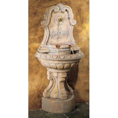 Henri Studio Wall Cast Stone Murabella Flat Wall Fountain