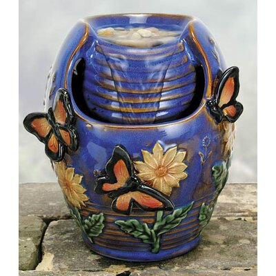 Coyne's Company Glazed Porcelain Butterfly Fountain